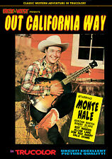 OUT CALIFORNIA WAY- MONTE HALE- COLOR DVD- UNCUT ROY ROGERS- B WESTERN - REPUBLI