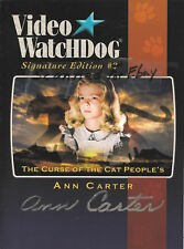 UNIVERSAL MONSTER-VIDEO WATCHDOG-SIG-2-ANN CARTER-SIGNED-CURSE OF THE CAT PEOPLE