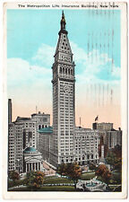 AK US Stati Uniti post card Metropolitan Life Insurance New York spedita 1924 Augsburg