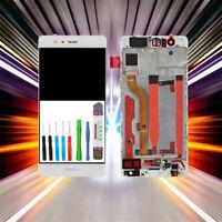 Original Huawei P9 EVA-L09, -L19 Display LCD Touchscreen Digitizer Weiß + Rahmen