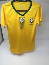 CBF BRAZIL  Football Soccer Kids Size 6 Shirt. NEW WITH TAGS Yellow