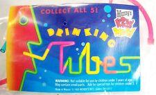 1993 Vintage Wendy's Fast Food Premium Drinking Tubes Rainbow Straw MIP C10!