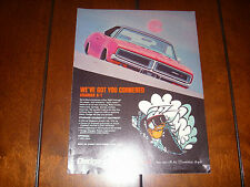 1969 DODGE CHARGER R/T  - ORIGINAL VINTAGE AD