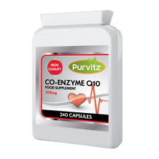 Q10 Co-Enzyme 100mg 240 Capsules Energy Heart Supplement Naturally Fermented UK