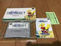 FinalFantasy V Japan Super Famicom SNES BOX and Manual