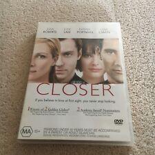 JULIA ROBERTS. CLOSER DVD. EX RENTAL.