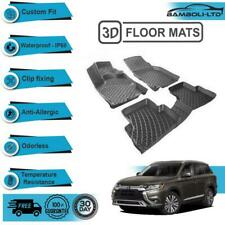 3D Molded Interior Car Floor Mat for Mitsubishi Outlander 2013-2018 (Black)