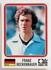 Panini Soccer Sticker Card #63 Franz Beckenbauer Munich 74 World Cup Story 1990