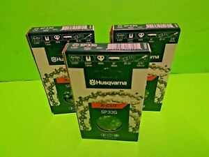 "Set of 3 Genuine OEM Husqvarna 581643666 (501840666) 16"" Chain H30 66DL .325 050"