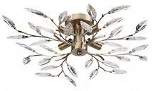 Lámpara de techo moderna aplique Encastrado Latón Antiguo/oro hojas de acrílico