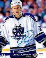 Craig Johnson Signed LA Kings Authentic Autographed 8x10 Photo PSA/DNA #Z39944