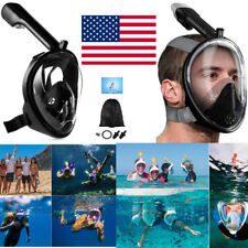 Underwater Anti-Fog Full Face Mask Swimming Breath Dry Diving Goggle Snorkel US.
