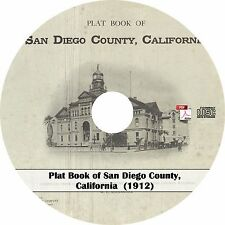 1912 Plat Book of San Diego County, California ~ CA History Atlas Maps on CD