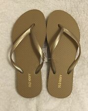 OLD NAVY Women's FLIP FLOPS Size 6 ~ GOLD
