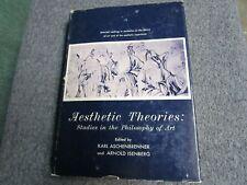 Aesthetic Theories Studies in the Philosophy of Art Karl Aschenbrenner  Isenberg