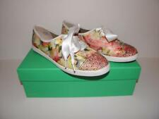 J Renee Schooner Geometric Asian Sneaker CORAL MULTI w/ Bead Detail sz 8-1/2 M
