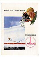 Publicité des années 40 des caméras PAILLARD TIRANTY ~ 27x37 cm ~ FN156