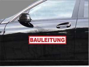 Magnetschild BAULEITUNG 40 x 8cm Haftschild PKW Schild Auto lackschonend wetterf