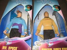 CAPTAIN JAMES KIRK & MR.SPOCK KB TOYS EXCLUSIVES W/GALACTIC GEAR IN BOXES