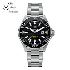 NEW TAG HEUER AQUARACER CALIBRE 5 AUTOMATIC STAINLESS STEEL WATCH WAY201A.BA0927