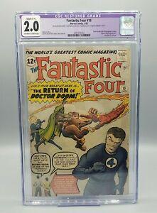 Fantastic Four #10 CGC 2.0 Restored C-1 3rd appearance Doctor Doom (1963)