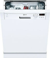 Neff S41E50W1GB 12 Place Semi Integrated Dishwasher With White Panel
