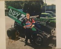 2019 Signed Gio Scelzi Photo World of Outlaw Sprint Car Indy Race Parts 8.5 x 11