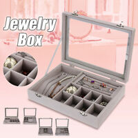 Jewelry Organizer Case Box Holder Storage Necklaces Earring Ring Velvet  Q
