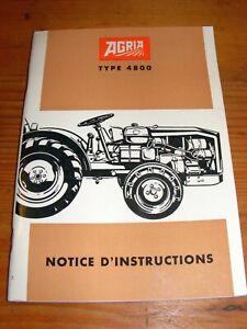 Agria 4800 Betriebsanleitung Anleitung Handbuch BA französische Ausgabe