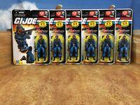 GI Joe 6X MOSC 2008 Cobra Anti-Armor Trooper 6 Cobra Bazooka Troopers! (Set A)