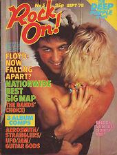 Bob Geldof on Rock On! Magazine Cover 1978   Deep Purple  Pink Floyd  Thin Lizzy