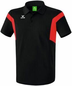 Erima Classic Team Herren Poloshirt Erwachsene Polyester schwarz rot