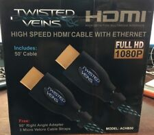 Twisted Veins ACHB50 HDMI Cable, 50 FT, Long High Speed HDMI Cord with Ethernet,