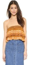 Free People Indian Summer Tube Top- Orange- Small