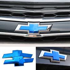 Grille Trunk Bowtie Emblem Badge Cover Blue For 2017 2018+ Chevrolet Malibu