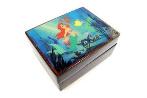 American Music Box Co  DISNEY LITTLE MERMAID Under The Sea Wooden Music Box