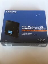 Cisco-Linksys Cable Modem with Ethernet USB Connection. CM100 Brand New