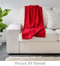 IKEA Throw Rug Polar Fleece Blanket Bed Couch Red New
