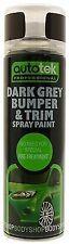 Autotek Dark Grey Bumper & Trim Aerosol Spray Paint 500ML Bodywork DIY