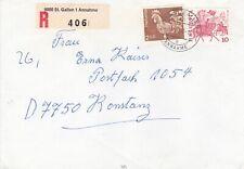 Switzerland 1982 St Gallen-Konstanz Germany Registered Cover VGC