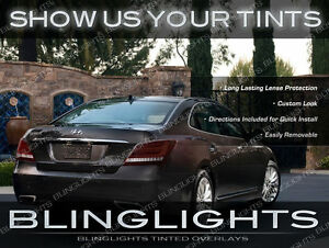 Tinted Tail Lights Overlays Kit Smoked Lamps Vinyl Film for Hyundai Equus