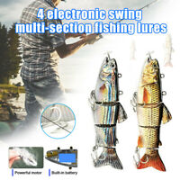 Electric Twitching Fishing Lures Bait Light Buzzing Lure Fish USB Rechargeable
