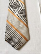 Men's Neck Tie ~ 55 x 4 1/4 ~ Geometric Diagonal Stripes ~ Polyester