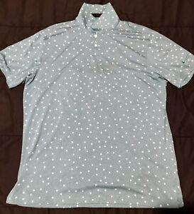 Nike Men's Dri-FIT Vapor Printed Golf SS Polo Shirt Sz L Green Blue Teal