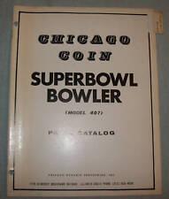 ORIGINAL CHICAGO COIN SUPERBOWL  BOWLER PARTS CATALOG