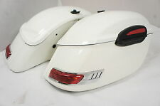 RS White Hard Saddlebags for Kawasaki Vulcan VN 900 1500 1600 2000 800 1700