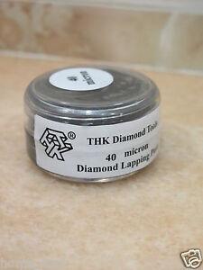 1 bottle THK 40 micron Diamond polishing lapping paste pastes compound 20 Gram