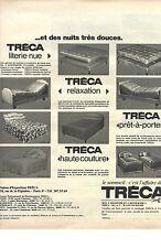 PUBLICITE   1970  TRECA matelas literie