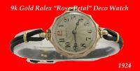 Vintage  9k Gold Rolex Deco Ladies Wrist Watch 1924