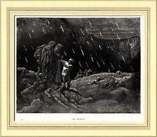 INFERNO: SODOMITI: Brunetto Latini. Di Gustave Doré. Dante. Divina Commedia.1890